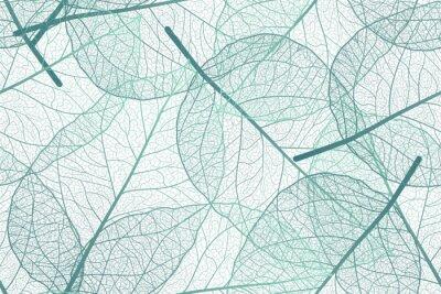 Фотообои Seamless pattern with leaves veins. Vector illustration.