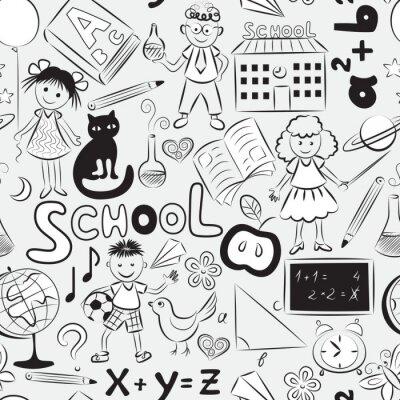 Фотообои Полная картина с школьную тему