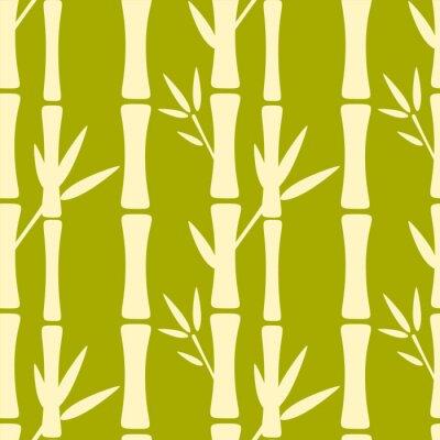 Фотообои Бесшовные узор с силуэты деревьев бамбука