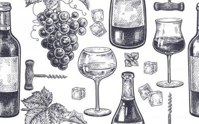Фотообои Бесшовные шаблон с вином.
