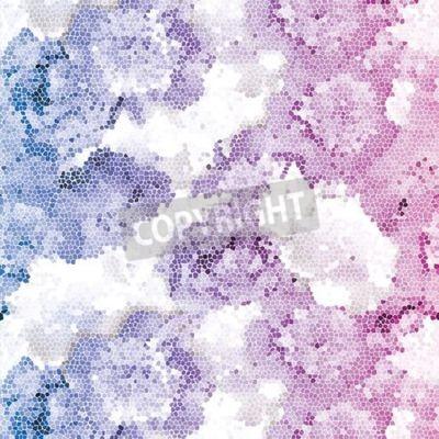 Фотообои Seamless peony mosaic. Pink blue flower pattern. Peony texture Vector illustration.