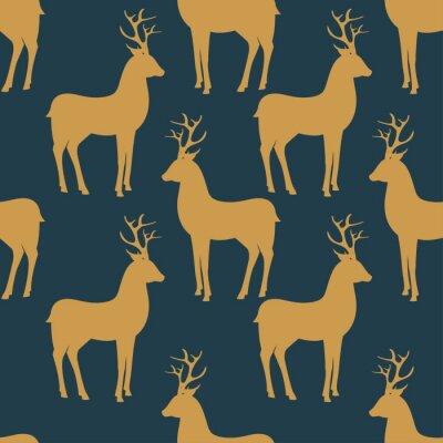 Фотообои Seamless vector pattern with deer