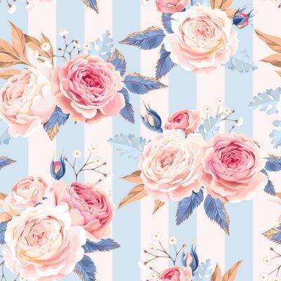 Фотообои Бесшовные старинные розы