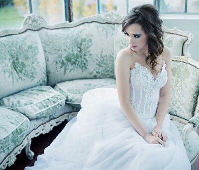 Фотообои Чувственный молодая невеста после свадьбы
