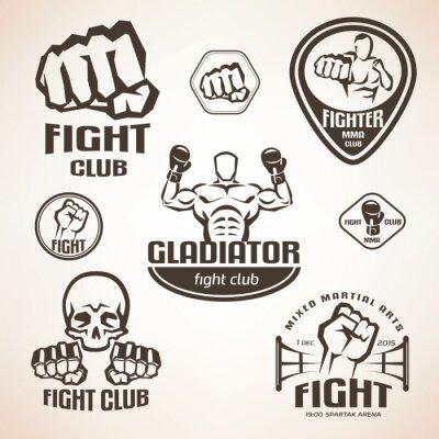 Фотообои Набор боевых действий клубных эмблем, ММА, бокс этикеток и Bages