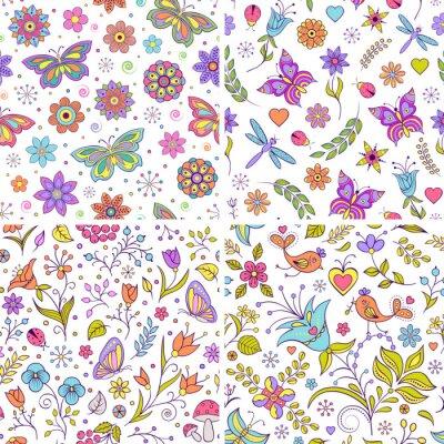 Фотообои Набор цветочных фонов.