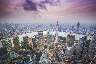 Фотообои Шанхай, Китай Вид с воздуха