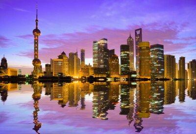 Фотообои Шанхай горизонта на рассвете