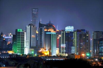 Фотообои Шанхай горизонта ночью