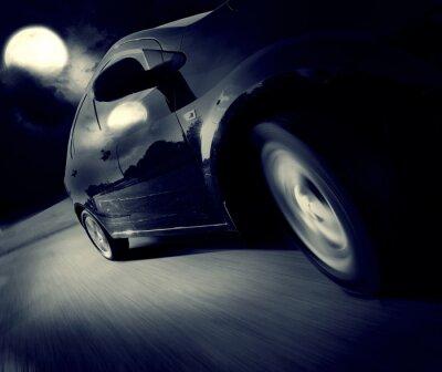 Фотообои Вид сбоку черного автомобиля, в свою очередь