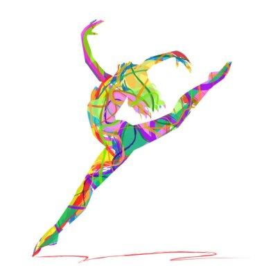 Фотообои силуэт ди балерина composta да Colori