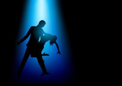 Фотообои Силуэт иллюстрация пару танцы