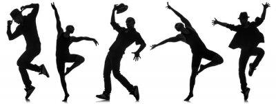 Фотообои Силуэты танцоров в концепции танцевальной