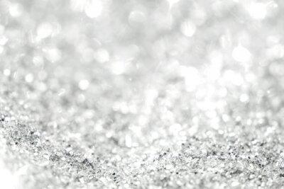 Фотообои Серебряный фон расфокусированным абстрактные огни. Золотые боке огни.