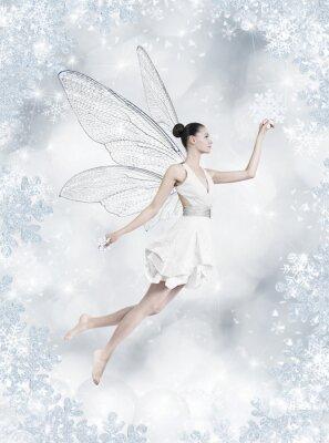 Фотообои Серебряная зима фея