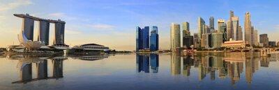 Фотообои Сингапур панорама горизонта утром