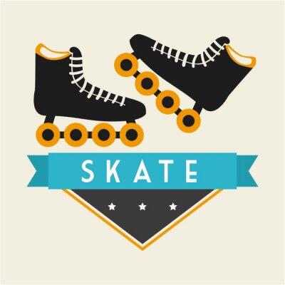 Фотообои Скейт дизайн