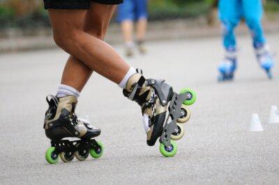 Фотообои Skater стоя стоять на обучение, спорт действий.
