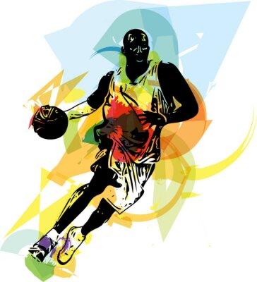 Фотообои Эскиз баскетболиста