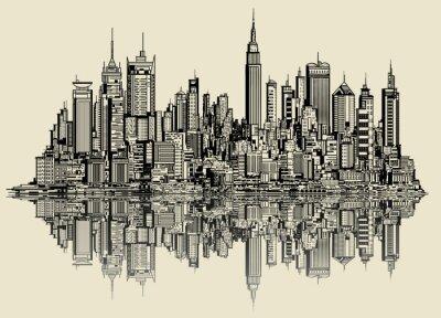 Фотообои эскиз Нью-Йорке