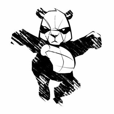 Фотообои Эскиз панда боевые искусства