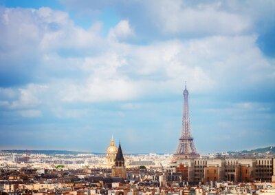 Фотообои линия горизонта Парижа с Эйфелевой башни
