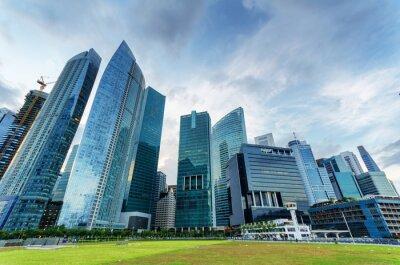 Фотообои Небоскребы в финансовом районе Сингапура