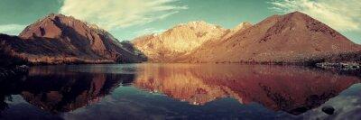 Фотообои Снег Горное озеро