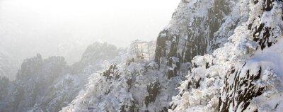 Фотообои снег сцена холма Хуаншань зимой