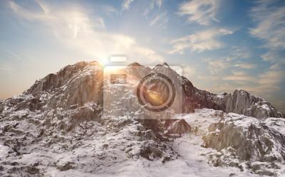 Фотообои Снежные горы. Зимний пейзаж