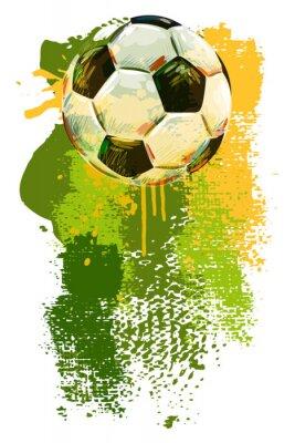 Фотообои Футбольный мяч Баннер. Все элементы в отдельных слоях и сгруппированы.