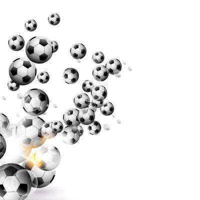 Фотообои футбольный мяч, изолированных на белом фоне