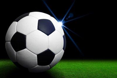 Фотообои Футбольный мяч на зеленом стадионе