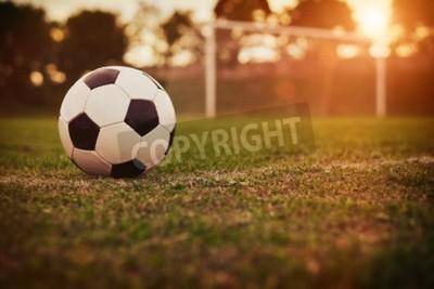 Фотообои Футбол на закате