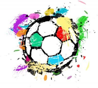Фотообои Футбол или футбол векторные иллюстрации, разноцветные краски splas