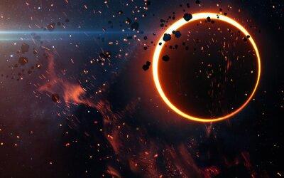 Фотообои Солнечное затмение Над туманностью. Элементы этого изображения, предоставленную NASA