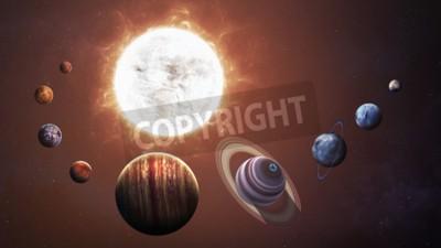 Фотообои Солнечной системы и космических объектов. Элементы этого изображения, предоставленную NASA