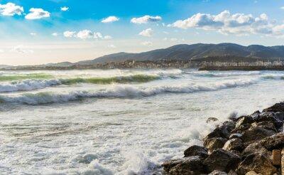 Фотообои Испания Küste Meer Brandung Wellen