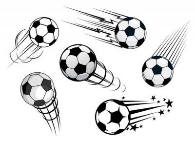 Фотообои Ускорение мячи или футбольные мячи