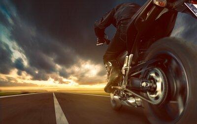 Фотообои Ускорение мотоцикла