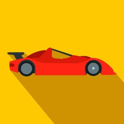 Фотообои Превышение скорости гоночного автомобиля плоская иконка
