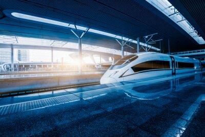 Фотообои превышение скорости поезда