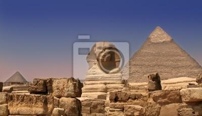 Great Sphinx, Chephren Pyramid, Giza, Egypt  № 2245281 бесплатно