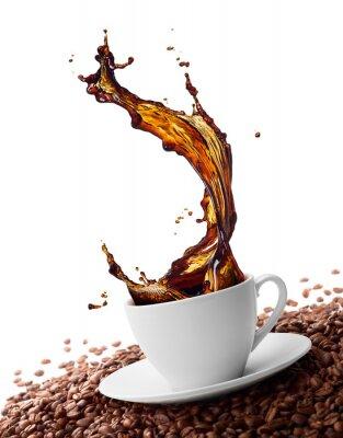 Фотообои splashing coffee