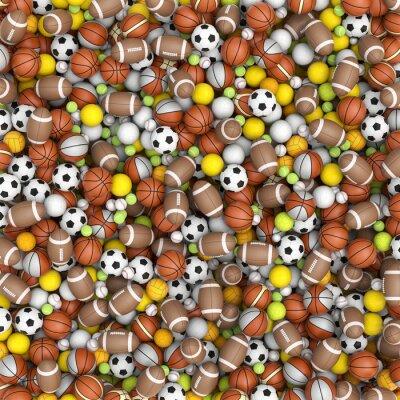 Фотообои Спортивные мячи на полу