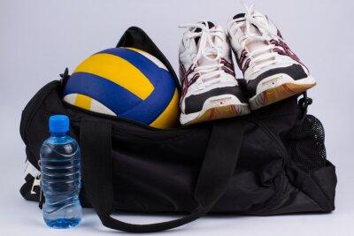 Фотообои Спортивная сумка со спортивной и мяч.