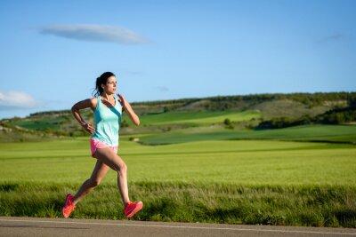 Фотообои Женский подготовки спортсмена на открытом воздухе.