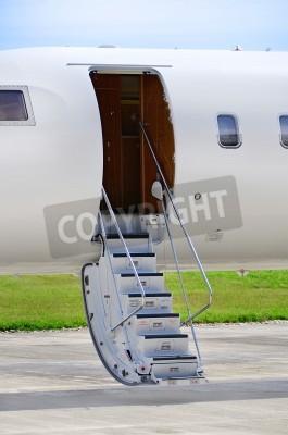 Фотообои Лестницы на роскошном частном реактивном самолете Bombardier - Global Express