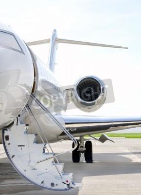 Фотообои Лестницы с реактивным двигателем на современном личное реактивного самолета - Bombardier Global Express
