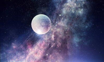 Фотообои Звездное небо и луна. Смешанная среда